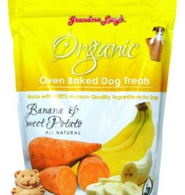 Grandma Lucy's Organic Banana & Sweet Potato Oven Baked Dog Treats, 14 oz.