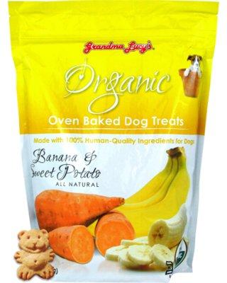 Grandma Lucy's Organic Banana & Sweet Potato Oven Baked Dog Treats, 14 oz.