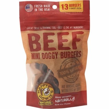 Happy Howies Mini Doggie Beef Burgers, 4.6 oz.