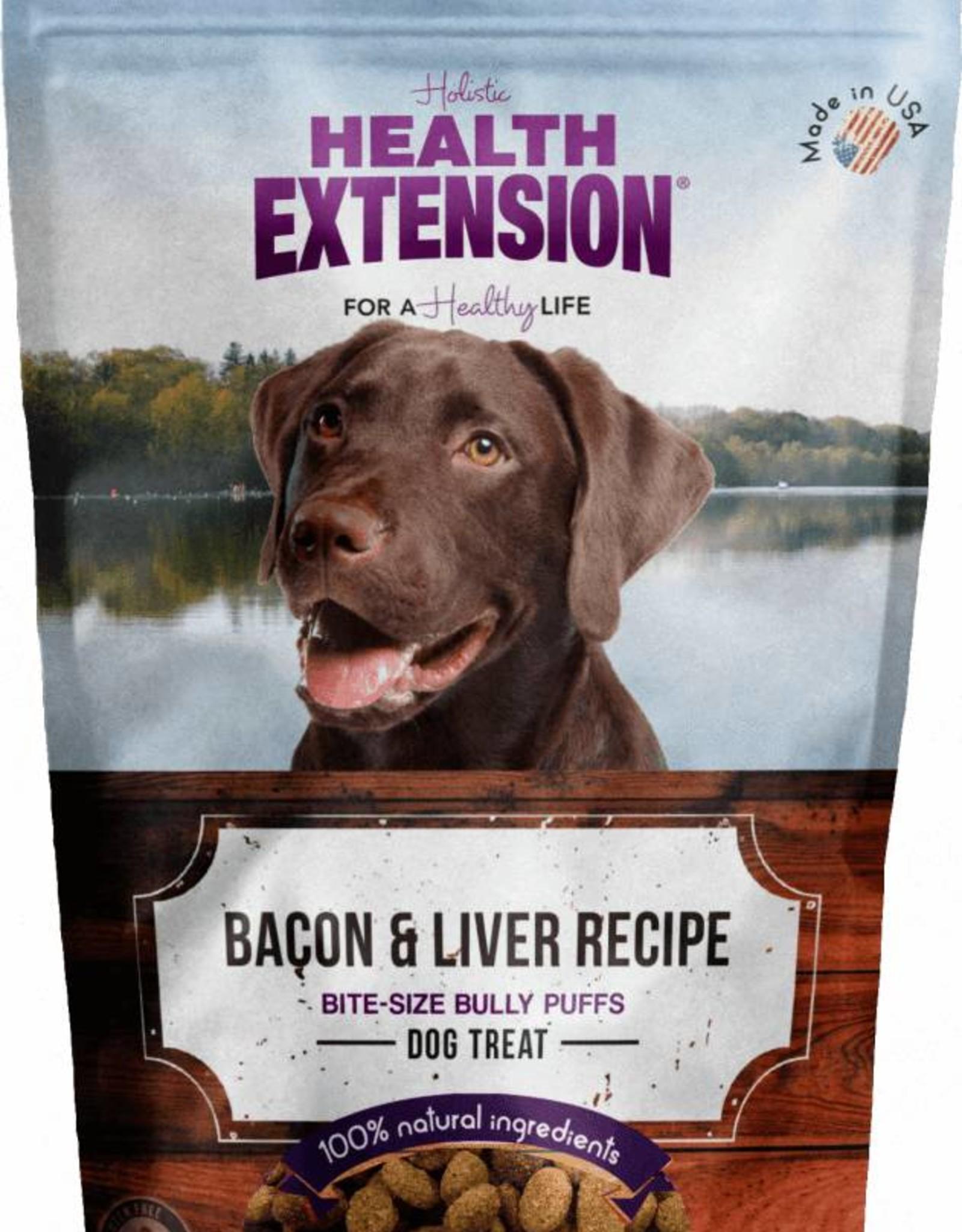 Health Extension Bully Puffs Bacon & Liver Grain-Free Dog Treats, 5 oz