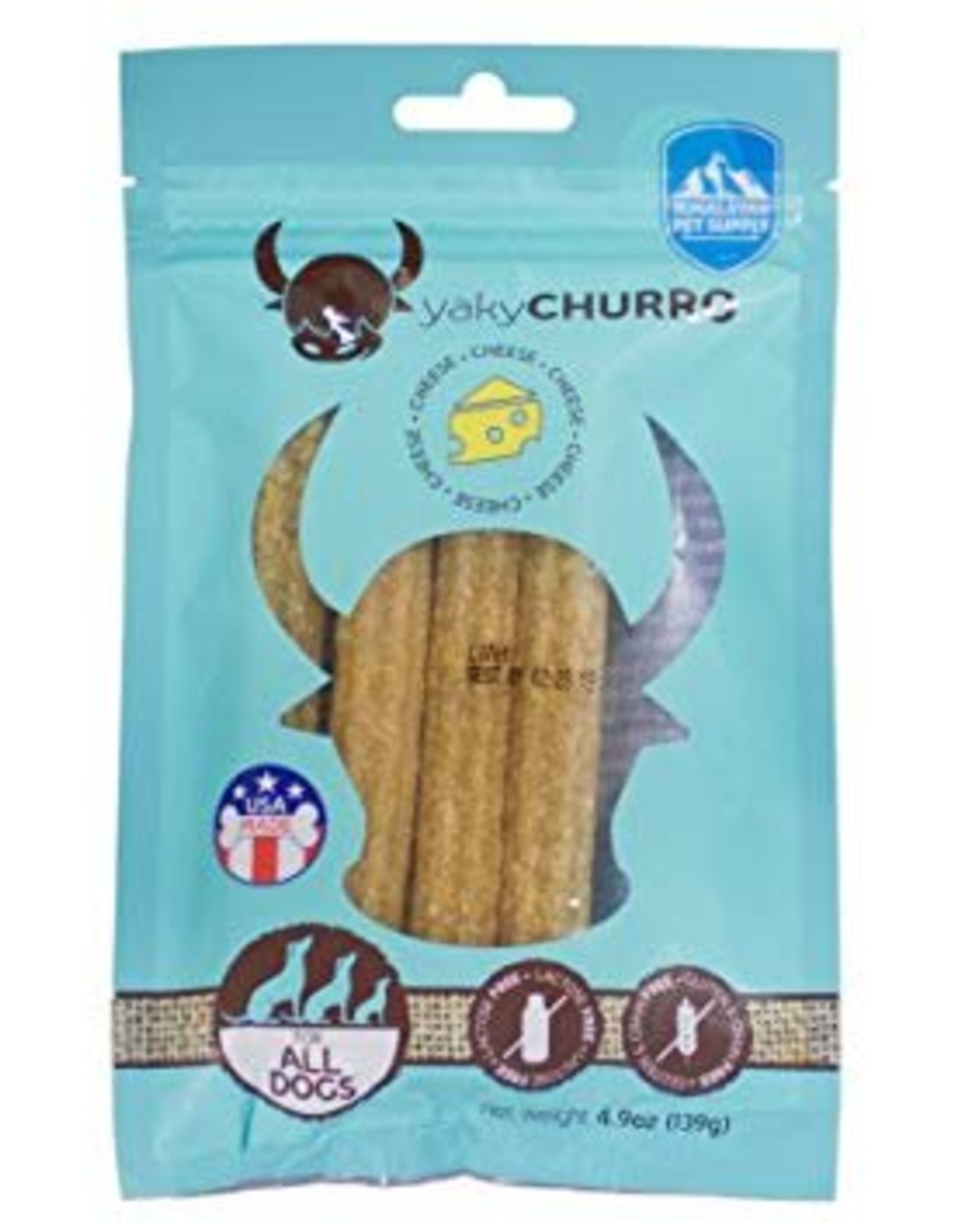 Himalayan Dog Chew Yaky Churro Cheese Dog Treats, 4 pack
