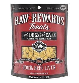 Northwest Naturals Raw Rewards Freeze-Dried Bison Liver Dog & Cat Treats, 3 oz.