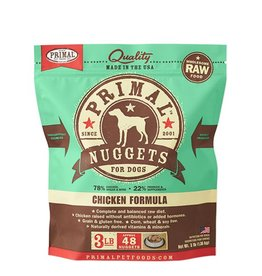 Primal Raw Frozen Canine Chicken Formula, 3 lb. nuggets