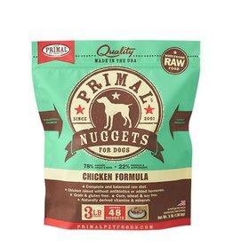 Primal Raw Frozen Canine Chicken Formula, 3 lb. nuggets