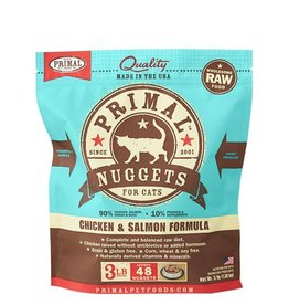 Primal Raw Frozen Feline Chicken & Salmon Formula, 3 lb. nuggets