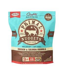 Primal Raw Frozen Feline Chicken & Salmon Formula, 3 lb. nuggets