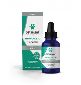 Pet Releaf Hemp Oil 330 for Dogs & Cats