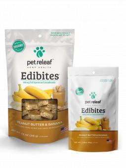 Pet Releaf Peanut Butter & Banana Edibites, 30 pieces