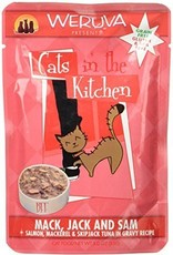 Weruva CITK Mack, Jack & Sam Cat Food Pouch, 3 oz.