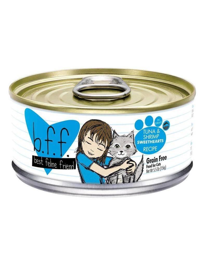 Weruva BFF Tuna & Shrimp Sweethearts Cat Food Can, 5.5 oz.