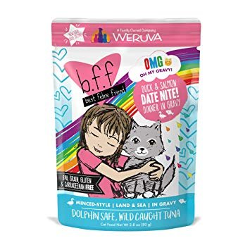 Weruva BFF OMG Duck & Salmon Date Nite Cat Food Pouch, 2.8 oz.