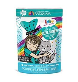 Weruva BFF OMG Chicken & Tuna Seeya Sooner Cat Food Pouch, 2.8 oz.
