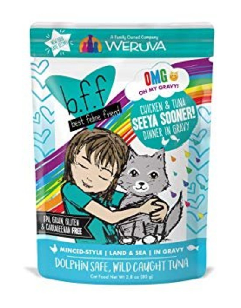 Weruva BFF OMG Chicken & Tuna Seeya Sooner Cat Food Pouch, 2.8 oz.