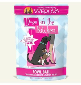 Weruva DITK Fowl Ball Dog Food Pouch, 2.8 oz.