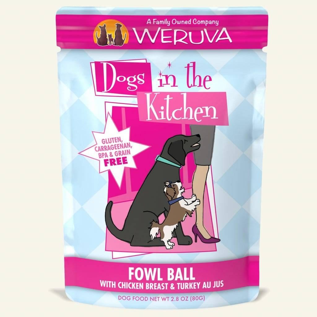 Weruva DITK Fowl Ball Dog Food Pouch, 2.8 oz.