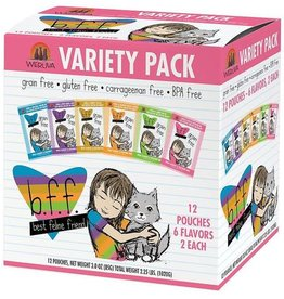 Weruva BFF OMG Potluck O Pouches Cat Food Pouch Variety Pack, 12 pack