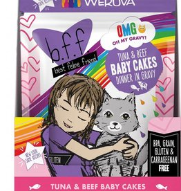 Weruva BFF Tuna & Beef Baby Cakes Cat Food Pouch, 3 oz.