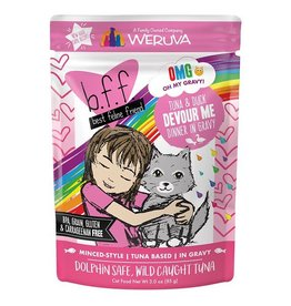 Weruva BFF OMG Tuna & Duck Devour Me Cat Food Pouch, 3 oz.