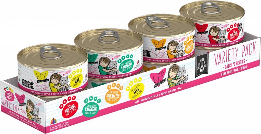 Weruva BFF Batch 'O Besties Cat Food Can Variety Pack, 8 pack