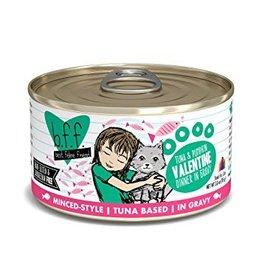 Weruva BFF Tuna & Pumpkin Valentine Cat Food Can, 5.5 oz.