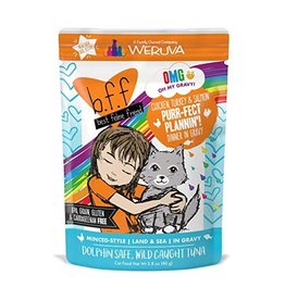 Weruva BFF OMG Chicken, Turkey & Salmon Purr-fect Plannin Cat Food Pouch, 2.8 oz.