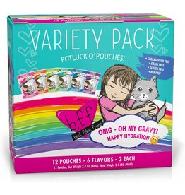 Weruva BFF OMG Rainbow A Gogo Cat Food Pouch Variety Pack, 12 pack