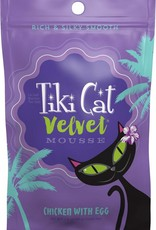 Tiki Velvet Mousse Chicken & Egg Grain-Free Cat Food Pouch, 2.8 oz.