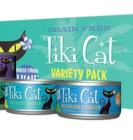 Tiki Luau Queen Emma Grain-Free Cat Food Can Variety Pack
