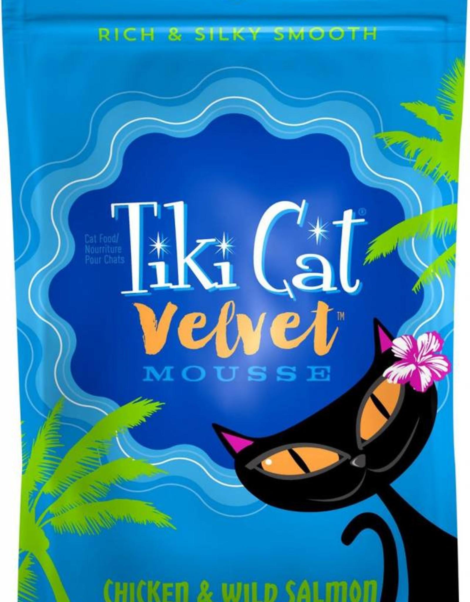 Tiki Velvet Mousse Chicken & Salmon Grain-Free Cat Food Pouch, 2.8 oz.