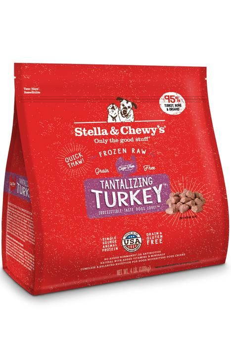 Stella & Chewy Frozen Turkey Morsels Grain-Free Dog Food