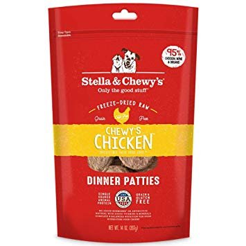 Stella & Chewy Chicken Patties Freeze-Dried Grain-Free Dog Food