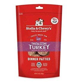 Stella & Chewy Turkey Patties Freeze-Dried Grain-Free Dog Food