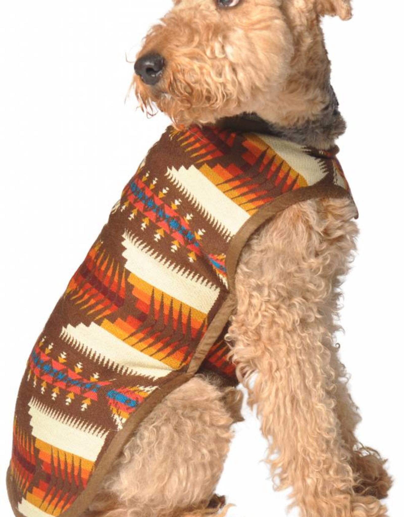 Chilly Dog Brown Southwest Dog Coat