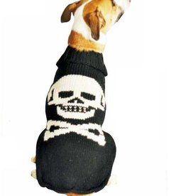 Chilly Dog Black Skull Sweater