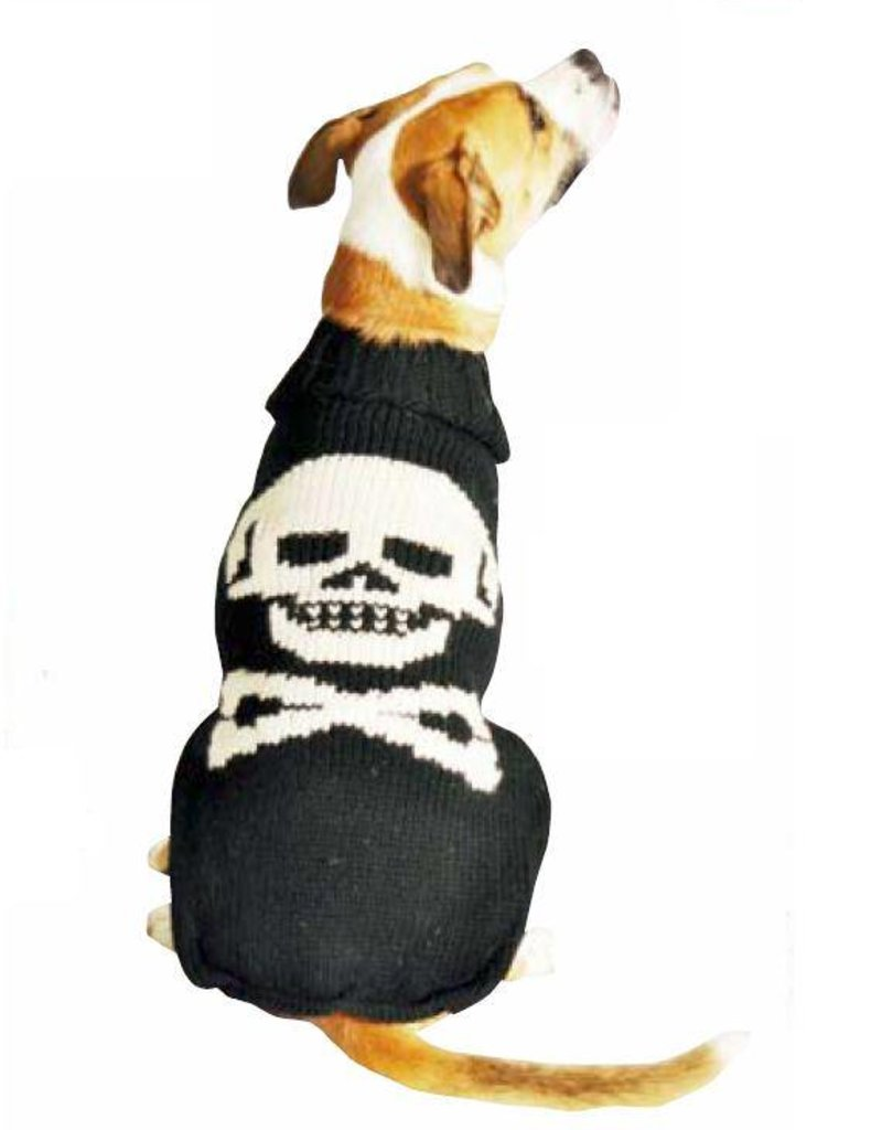 Chilly Dog Black Skull Sweater