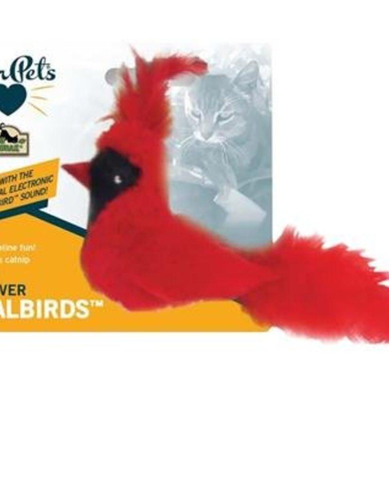 Cosmic/Our Pets Play & Squeak Catnip Fly Over Bird Red