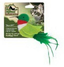 Cosmic/Our Pets Play & Squeak Catnip Green Bird