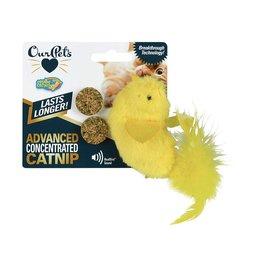 Cosmic/Our Pets Play & Squeak Catnip Yellow Bird