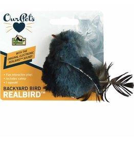 Cosmic/Our Pets Play & Squeak Catnip Gray Sparrow Bird