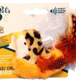 Cosmic/Our Pets Play & Squeak Catnip Orange Bird