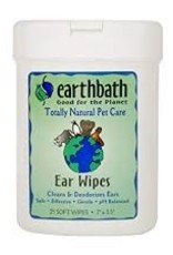 Earthbath Ear Wipes for Dogs & Cats, 25 count