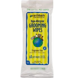 Earthbath Hypo-Allergenic Grooming Wipes for Dogs & Cats, 28 count