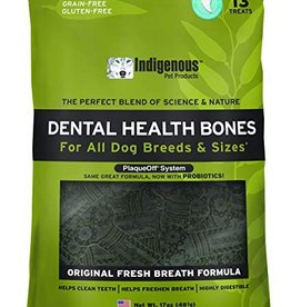 Indigenous Pet Products Dental Health Bones Original Fresh Breath Flavor