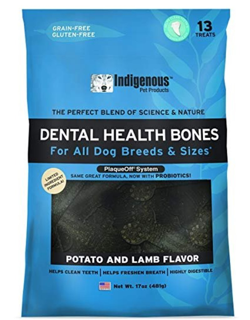 Indigenous Pet Products Dental Health Bones Lamb & Potato Flavor