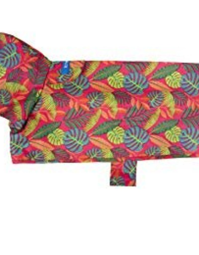 RC Pet Products Packable Dog Rain Poncho in Tropical Foliage