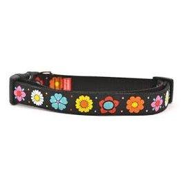 Six Point Pet Black Daisy Chain Collar