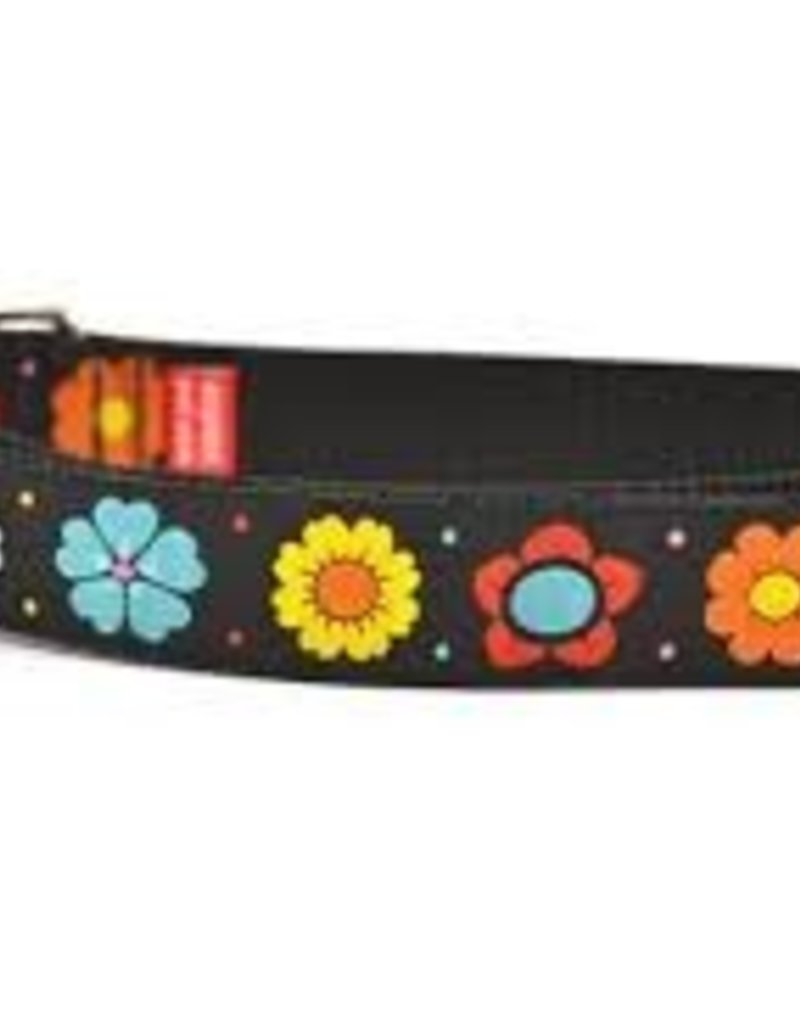 Six Point Pet Black Daisy Chain Collar