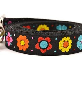 Six Point Pet Black Daisy Chain Leash