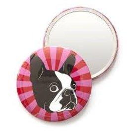 Smarty Pants Paper Boston Terrier Pocket Mirror