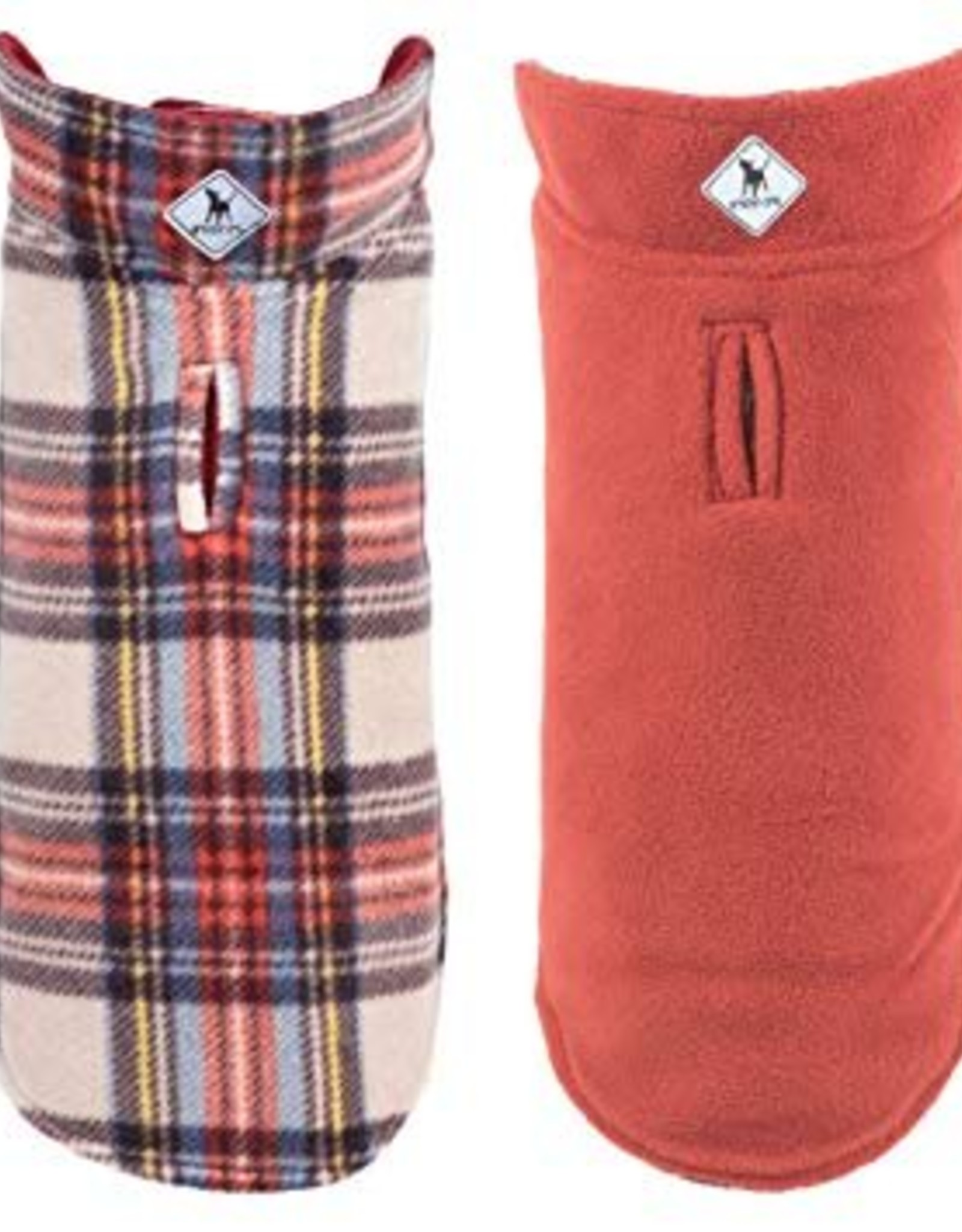 The Worthy Dog Reversible Fargo Fleece Dog Coat